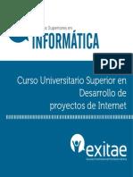 Curso Superior en Desarrollo de Proyectos de Internet