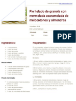 Sabores en Linea - Pie Helado de Granola Con Mermelada Acaramelada de Melocotones y Almendras - 2014-05-12