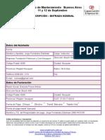 Formulario Pre-Inscripción Congreso Mtto 2014- AR