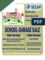 School Garage Sale flyer