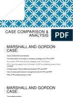 Case Analysis of Marshall & Gordon