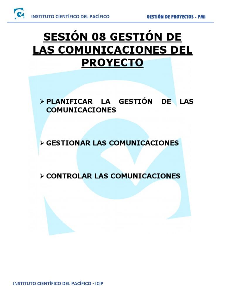 Sesion 08 Gestion de Comunicaciones