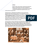 Independencia de Paises d Centroamerica