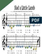 Dino SheetMusic MaryHadALittleLamb