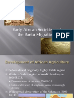 early african societies and the bantu migrations