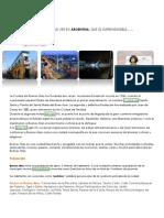 ARGENTINA-Lugares de Interès