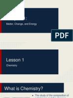 chapter 1  matter change energy