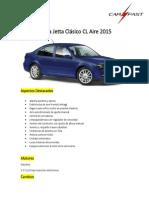 Ficha Tecnica Jetta Clasico CL Aire 2015