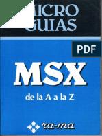 Micro Guias MSX de La a a La Z