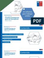 """""""Estrategia de Ciudad Inteligente para el Transporte Chile 2020""""."""