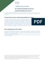 Modele de Contrat de Prestation de Service 3252
