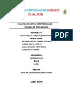 MOOGRAFIA MACROECONOMIA ( Gasto Publico y Presupuesto Nacional)