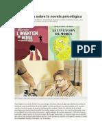 Blas Matamoro. La Polémica Sobre La Novela Psicológica.