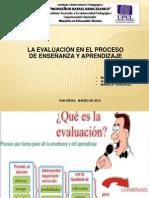 La Evaluación en El Proceso de Enseñanza y Aprendizaje