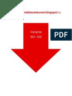 Geografie Eu Ro UE - Subiectul III cu 100 variante din 2009
