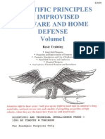 Scientific Principles of Improvised Warfare and Home Defense - Vol I