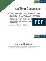 Continuous Time Convolution