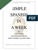 Simple Spanish in a Week by Pawankumar