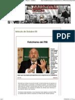 Fetichismo Del PIB - Joseph E Stiglitz. Asamblea de Majaras - Asambleademajaras