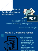 Using MLA Format (Modern Language Association)