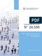 Informe Ejecutivo Ley 20 599