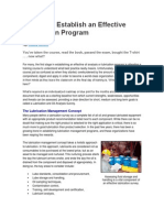 3 Steps to Establish an Effective Lubrication Program