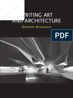 Writing Art and Architecture
