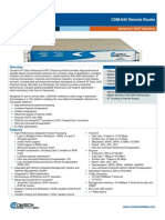 Comtech/EFData CDM-840 Remote Router Data Sheet