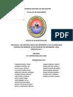 Influencia Del Material Didactico Referente a Los Valores en El Cuidado Que Brindan Las Estudiantes de Enfermería. Unsa. Arequipa-2013