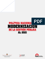 Politica Nac. Modern. Gest. Public. Al 2021