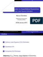 Ordinary Least Square Estimation