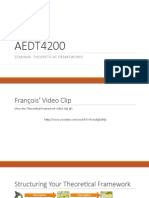 aedt4200 seminar theoretical framework