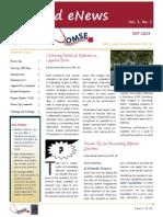 UA OMSE Med/Ed eNews v3 No. 02 (SEP 2014)