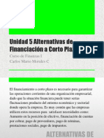 Curso de Finanzas i u5 Alternativas de Financiacion a Corto Plazo