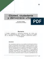 Ciudad, Ciudadanía y Democracia Urbana