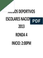 Juegos Deportivos Escolares Nacionales 2013