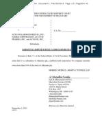 Daravita Disclosure Statement Case 114-Cv-01118-UNA