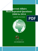 Most Repeated Question Current Affairs - 2000 to 2014