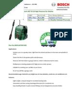 Bosch Aqt 33 10 High Pressure Car Washer