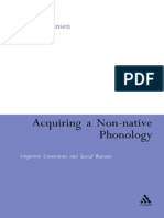 Acquire a Non-native Phonology