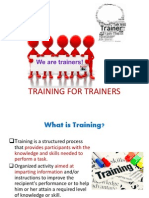 Training for Trainers