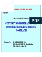 Contract Administration for Construction & Engineering Contracts - 1