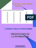 Presentacion de La Informacion