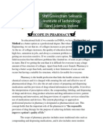 Research Report Scope of Pharmacy