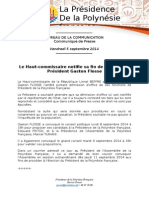 Communiqué - Arrete Destitution PR