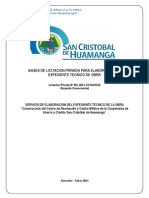 Bases de Licitacion Privada Para Elaboracion de Expediente Tecnico de Obra