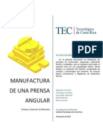 Seleccion de Materiales de una Prensa Angular