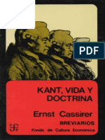 Cassirer - Kant. Vida y Doctrina
