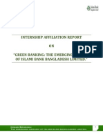 """""""Green Banking Emerging Demand of Islami Bank Bangladesh Limited."""""""