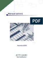 Mensuel Actions Novembre 2009